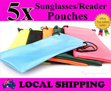 Hi Quality 5x Waterproof Nylon Dust Pouch Bag Sunglasses Reading Glasses Case