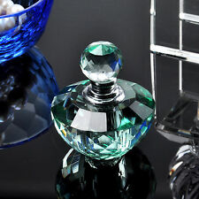 Vintage Cute Glass Crystal Green Perfume Bottle Empty Art Bottle Girl Gift 2ml