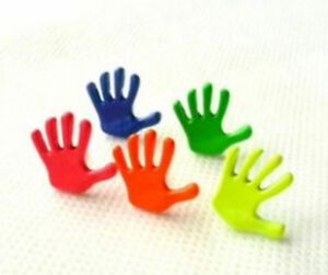 finger painting hand Earrings studs blue palm Candy high five teacher gift UK