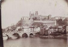 Béziersl'Hérault France Vue générale Vintage aristotype ca 1900