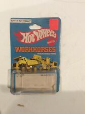 Hot Wheels Cat Forklift ,Dump Truck Workhorses Series #1168 1979 Package Only