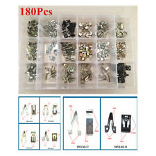 180 x Metal Rivets Car Interior Door Panel Clips Fastener Tone Audio Fastener