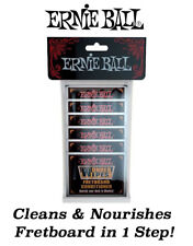 **ERNIE BALL FRETBOARD CONDTIONER & CLEANER WIPES - 20 INDIVIDUAL PACKS**