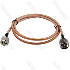 50cm RG142 Cable UHF PL259 Plug Male to N Type Plug Male Straight Coaxial