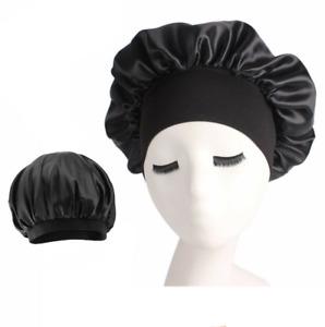 Womens Floral Silk Night Sleep Cap Hair Care Satin Bonnet Hat Head Cover Turban