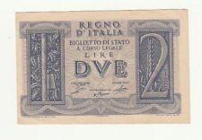 Italia 2 lire 1939  impero FDS  416  500124 tagliata irregolarmente rif 2370