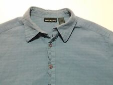 DKNY Jeans Button Up Shirt Size L Large Men's Blue Cotton