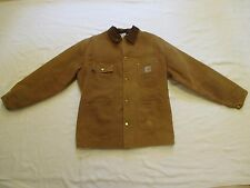 USA Made Vtg Mens XL? Carhartt Blanket Lined Brown Chore Jacket 1989 100 Years