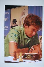 Gm sergey Kariakin signed 20x30cm foto autógrafo Autograph ip7 Grandmaster Chess