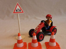 PLAYMOBIL personnage accessoire véhicule spécial plots panneau garçon kart