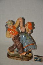 Cortendorf Figurengruppe Tanzende Bauern Keramik Ton Figur