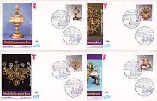 Berlin 818-21 FDC, Wohlfahrt 1988-Gold-Silber-Schmiedekunst