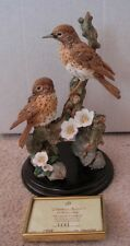 "COUNTRY ARTISTS  ""SEASONS CHORUS - PAIR OF THRUSHES - 23 cm TALL - LIMITED EDIT."