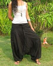 Pantalon De Harem Sarouel Harem Pants Women Aladdin Hippie Yoga Genie Baggy*HL-F