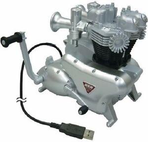 Triumph Bonneville Engine 3-Port USB Hub Connects Camera Printer MemStick to PC