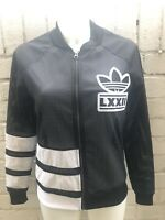 Woman's Adidas Originals Track Top Size 8 Black Mesh Ladies Jacket