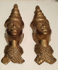 Afrikanische Frauen Maske aus Messing