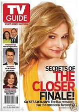 2012 TV Guide Secrets of the Closer Finale Kyra Sedgwick Cover!