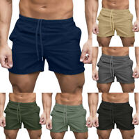 Men Casual Sports Jogging Running Gym Elasticated Waist Shorts Pants Trousers