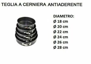 TORTIERA DA FORNO A CERNIERA APRIBILE VARIE MISURE DISPONI 18/20/22/24/26/28 CM