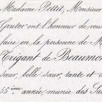 Catherine Amélie Trigant De Beaumont Damêmme Paris 1855