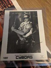 Jean Claude Van Damme & Vincent Klyn AUTOGRAPH with Cyborg Poster