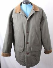 L.L. Bean Quilt Lined Corduroy Thinsulate Button Up Barn Jacket Coat Men's L