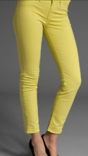 Michael Kors Yellow Denim Straight Jeans Size 8