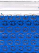 "Ziplock Baggies 2020 Apple 100 Mini ZIP LOCK Bags PRINTED Design 2"" X 2"" (CROWN)"