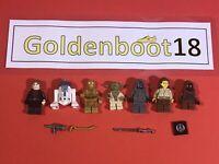 OFFICIAL LEGO MINI FIGURES STAR WARS BUNDLE - ANAKIN YODA R2 D2 C3P0 - GENUINE