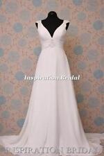 Chiffon V Neck Empire Wedding Dresses