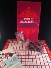 Vtg 1969 Childrens Bible Anagrams Board Game Warner USA No. T3853 Word Game