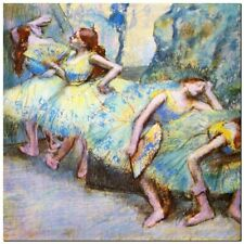 """Stunning Classic Ballet Art ~ Degas, Dancers in wing ~ CANVAS PRINT 12x12"""""""