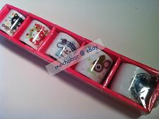 New VINTAGE 04 HELLO KITTY CHOCOCAT BADTZ CINNAMOROLL DEARY LOU Mini Tea Cup Set