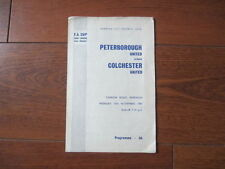 Away Teams FA Cup Peterborough United Football Programmes