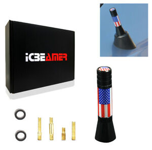 """JDM Mini 2"""" United State Country Flag Universal Fit Vehicle AM/FM Antenna K277"""