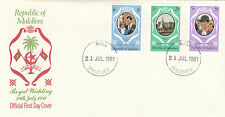 (03635) Maldives FDC Princess Diana Wedding 21 July 1981