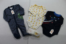 Gymboree 3-6 Months Boys Sweet Pea Duck and Plane Pajama Lot with Socks NWT