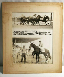 1959 Hazel Park Horse Race Track Photo Jos Gregory On Whirl Girl WR Painter
