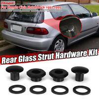 Rear Glass Strut Hardware Kit Black for Honda Civic 3Dr 92-95 Hatchback