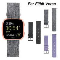 Uhrenarmband Armbanduhr Armband Leinen Gürtel Ersatz Für Fitbit Versa Smart
