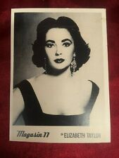 VINTAGE ELIZABETH TAYLOR PHOTO CARD BY MAGAZINE 11