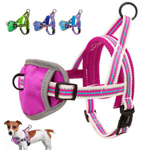 Padded No Pull Dog Harness Soft Reflective Mesh Front Leading Walking Vest Chest