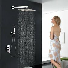 Shower System Chrome with 16 Inch Rainfall Shower Head and Handheld Complete Set