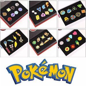 Anime Pokemon Kalos League Gym Badges Metal Pins Brooch 8pcs/Set Cosplay Boxed