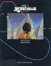 YES 1977 Tour Concert Program Programme Book DONOVAN