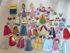 Melissa & Doug Magnetic Dress Doll 2 Disney Cinderella Belle Lot 74 Pc EXC!