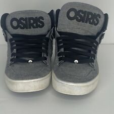 OSIRIS NYC 83 Vulc Skateboard High Top Shoes Black / Oxford Men's US 10.5