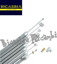 6602 - KIT DE CABLES MONTADO CON FUNDA GRIS LAMBRETTA 125 150 200 LI SX TV