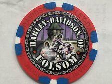 Harley Poker Chip    HD of FOLSOM   FOLSOM, CA    RED WHITE & BLUE